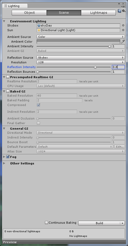 How to change reflection skybox from script in Unity 5